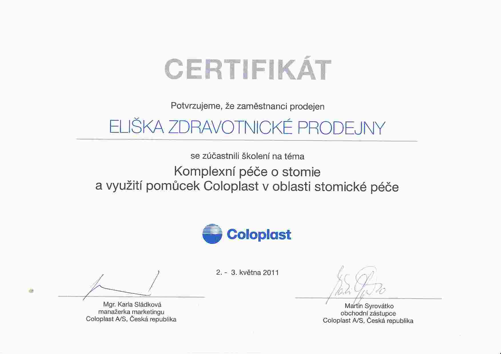 certifikat_coloplast