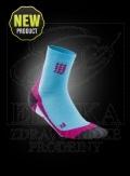 CEP krátké kompresní ponožky havajská modø-rùžová