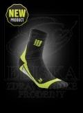 CEP krátké kompresní ponožky èerná-zelená