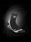 CEP krátké kompresní ponožky èerná-šedá