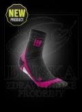 CEP krátké kompresní ponožky èerná-rùžová