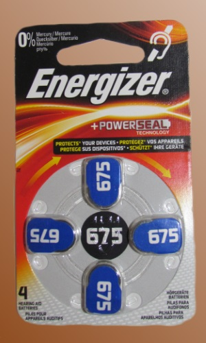 Baterie do naslouchadel Energizer typ 675