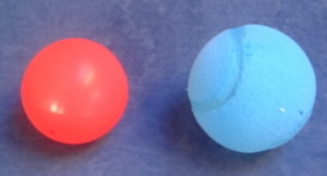 Posilovací molitanový míček
