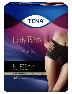 Absorpční kalhotky pro ženy<br />TENA Lady Pants Plus Noir Large