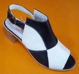 Dámská obuv Looke MAJORI - černá/bílá kostka