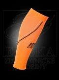 CEP kompresivní návlek na lýtko NIGHT reflexní oranžová