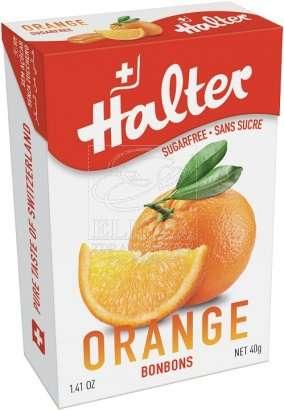 Bonbóny bez cukru Halter - Pomeranč