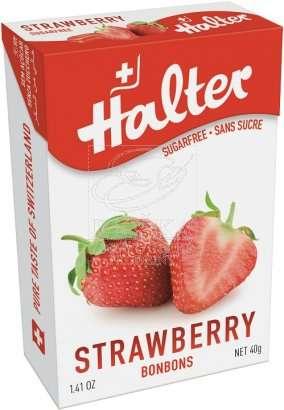Bonbóny bez cukru Halter - Jahoda