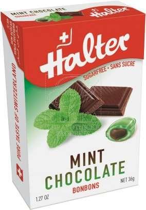Bonbóny bez cukru Halter - Máta s čokoládou