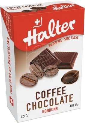 Bonbóny bez cukru Halter - Káva s čokoládou