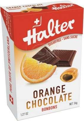 Bonbóny bez cukru Halter - Pomeranč + čokoláda