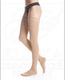 Stehenní kompresivní punčochy<br />Maxis Cotton s krajkou II.kt