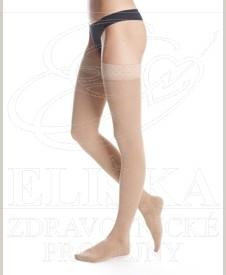 Stehenní kompresivní punčochy<br />Maxis Cotton s lemem II.kt