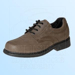 Pánská diabetická obuv MEDI Tom - šedohnědá
