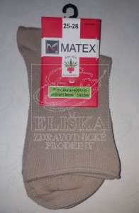 Hladké ponožky Matex Diabetes - Béžové