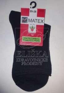 Hladké ponožky Matex Diabetes - Černé