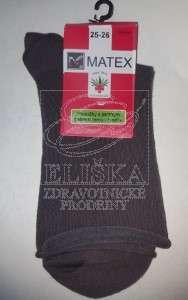 Hladké ponožky Matex Diabetes - Hnědé