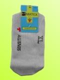 Ponožky Matex Diabetes - Světle šedé