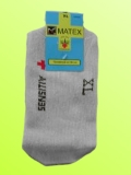 Ponožky Matex Diabetes - Svìtle šedé
