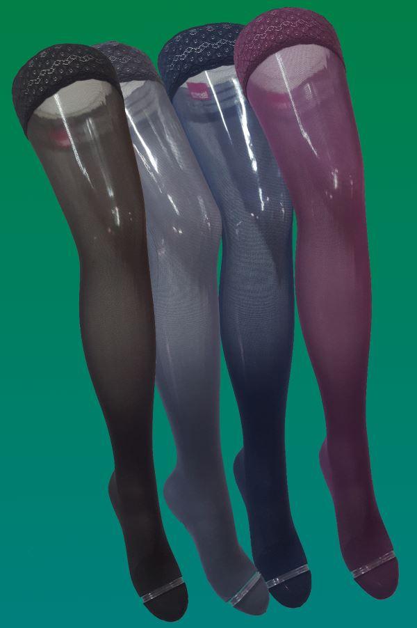 Podpůrné kompresní stehenní punčochy<br />Maxis Relax 140D<br />v limitovaných barevných variantách
