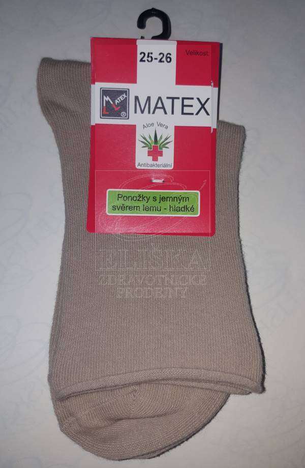 Hladké ponožky Matex Diabetes - Béžové  6f737214d8