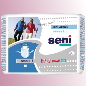 Natahovací elastické absorpční kalhotky<br />Seni Active Premium Quality Small