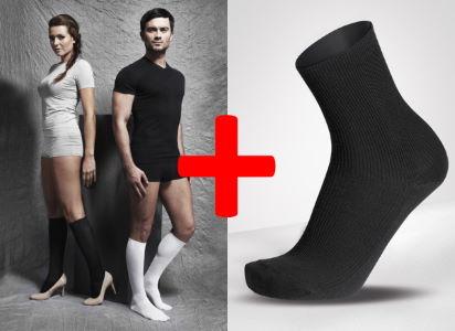 Podzimní akce<br />Podpůrné punčochy RELAX 280D + Ponožky BIO bavlna